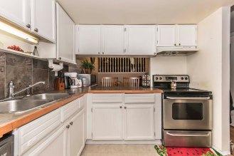 Partially open kitchen